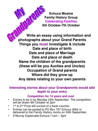 Echuca Moama  Family History Group Celebrating Families 5th October-7th October