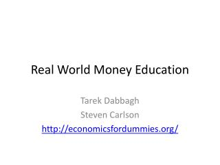 Real World Money Education