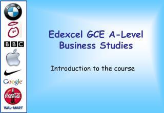 Edexcel GCE A-Level Business Studies
