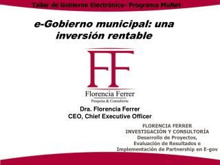 E-Gobierno municipal: una inversi n rentable