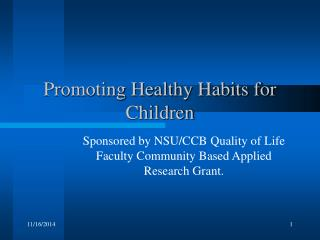 Promoting Healthy Habits for Children