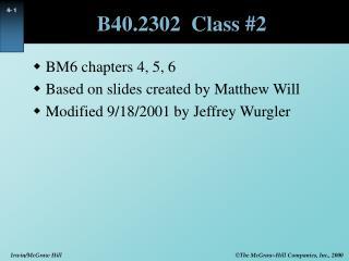 B40.2302  Class #2