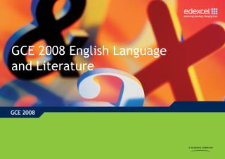 GCE 2008 English Language and Literature