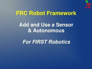 FRC Robot Framework