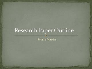 Research Paper Outline