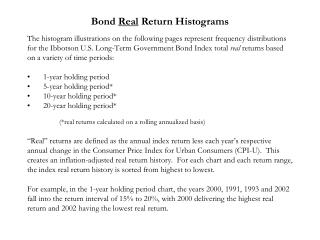 Bond  Real  Return Histograms