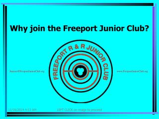 Why join the Freeport Junior Club?