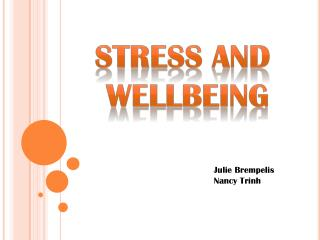 Stress and  wellbeing