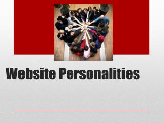 Website Personalities