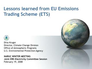 Lessons learned from EU Emissions Trading Scheme (ETS)