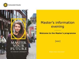 Master's  i nformation evening