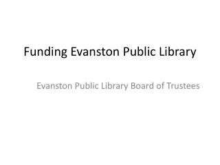Funding Evanston Public Library
