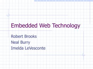 Embedded Web Technology