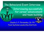The Behavioral Event Interview
