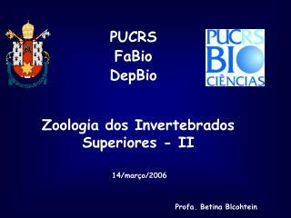 Zoologia dos Invertebrados  Superiores - II
