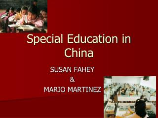 Special Education in China