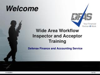 Wide Area Workflow Inspector and Acceptor Training