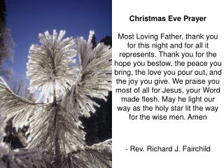 Christmas Eve Prayer