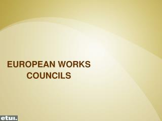 EUROPEAN WORKS  COUNCILS