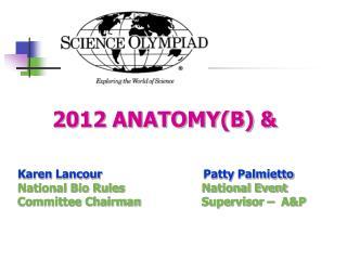 2012 ANATOMY(B) &