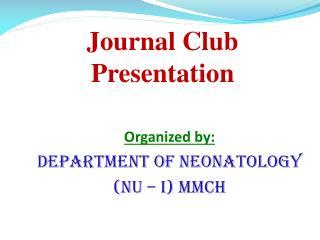 Journal Club Presentation