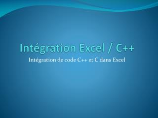 Int gration Excel