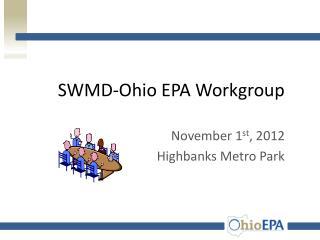 SWMD-Ohio EPA Workgroup