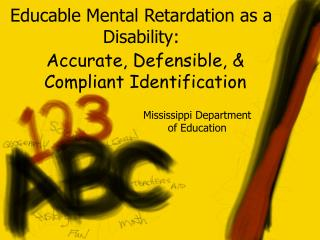 Educable Mental Retardation as a Disability: