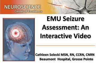 EMU Seizure Assessment: An Interactive Video
