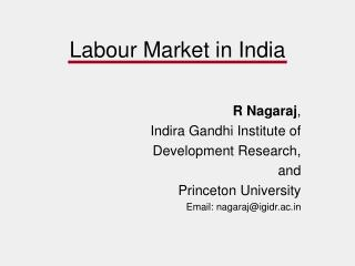 Labour Market in India