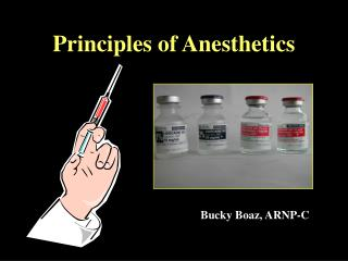 Principles of Anesthetics