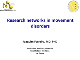 Research networks in movement disorders