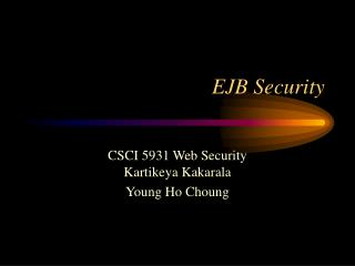 EJB Security