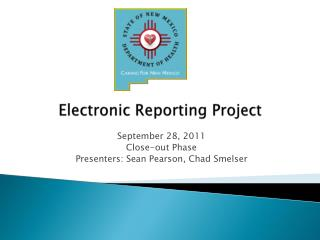 Electronic Reporting Project