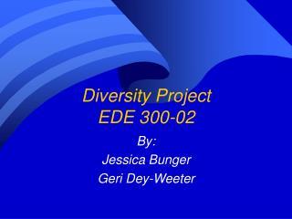 Diversity Project EDE 300-02