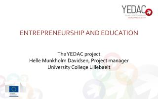 Entrepreneurship and education
