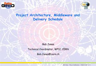 Project Architecture, Middleware and Delivery Schedule