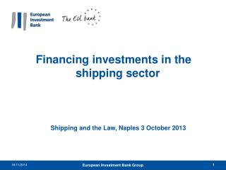 Financing investments in the shipping sector