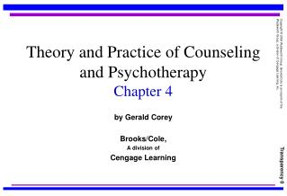 Theory and Practice of Counseling and Psychotherapy Chapter 4