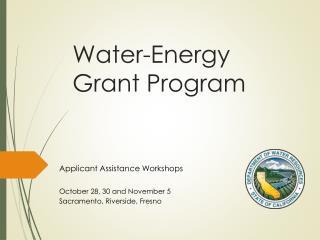 Water-Energy Grant Program