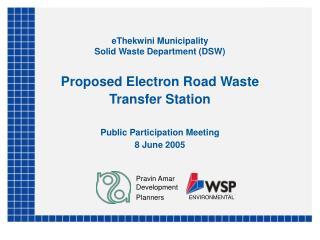 eThekwini Municipality  Solid Waste Department (DSW)