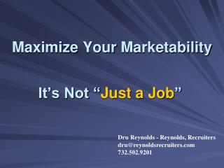 Maximize Your Marketability