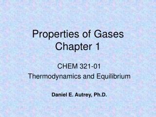 Properties of Gases Chapter 1