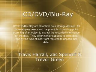 CD/DVD/ Blu -Ray