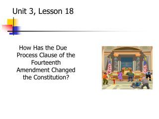 Unit 3, Lesson 18