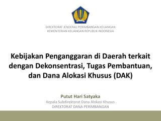 DIREKTORAT JENDERAL PERIMBANGAN KEUANGAN KEMENTERIAN KEUANGAN REPUBLIK INDONESIA