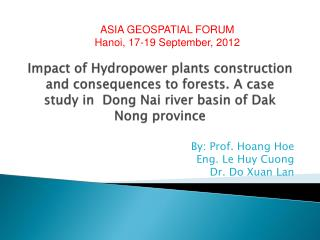 By: Prof. Hoang Hoe Eng. Le Huy Cuong  Dr. Do Xuan Lan