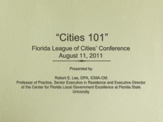"""""""Cities 101"""""""