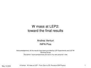 W mass at LEP2: toward the final results