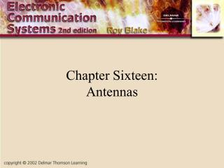 Chapter Sixteen: Antennas